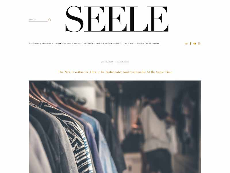 Seele Magazine Article - New Eco Warrior